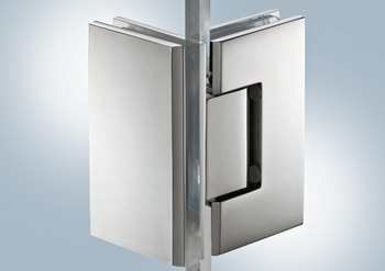 Shower Door Hinge, 90°, Aquasys