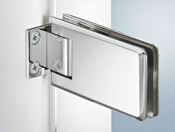 Shower door hinge, straight, Aquasys