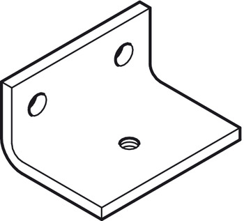 Side Mounting Bracket, With Two Screw Holes, For Use With Top Track