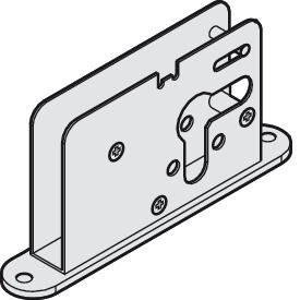 Single Bolt Lock, for 17 mm (11/16) Profile Cylinder, Ø9 mm (11/32) Bolt