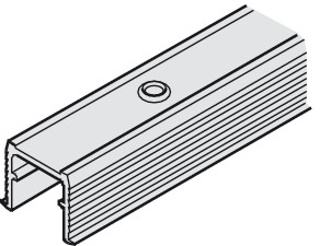 Single Guide Track, Bright Aluminum for Screw Mounting