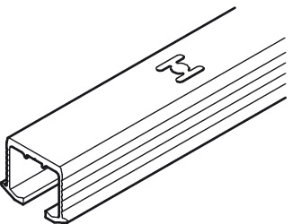Single Upper Track, Pre-Drilled, for Screw Fixing