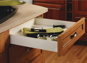 Single-Wall Metal Drawer System, Grass Zargen 6136 (Side Height: 4 5/8)
