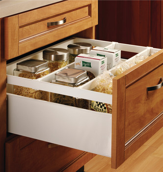 Single-Wall Metal Drawer System, Grass Zargen 6236 (Side Height: 5 7/8)