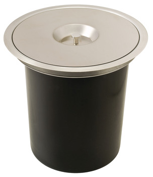 Single Waste Bin, for Flush or Surface Mounting