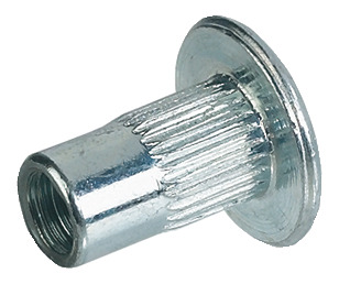 Sleeve Nut, with Internal Thread, M6, Steel