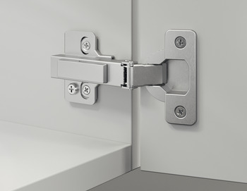 Slide-On Concealed Hinge, Häfele Metalla SM 110°, full overlay mounting