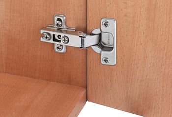Slide-On Concealed Hinge, Slide-On, Opening Angle 110°, Inset Mounting