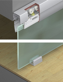 Sliding door fitting, EKU Porta 100 GU/G/GF/GFO Set