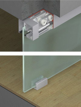 Sliding door fitting, Top Hung System
