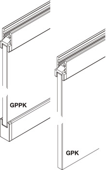 Sliding Door Hardware, EKU Clipo 16 GPK/GPPK IS, set
