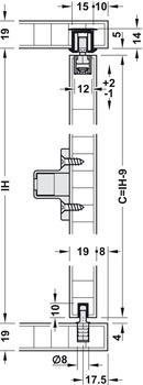 Sliding Door Hardware, EKU Clipo 16 HM Inslide, Set