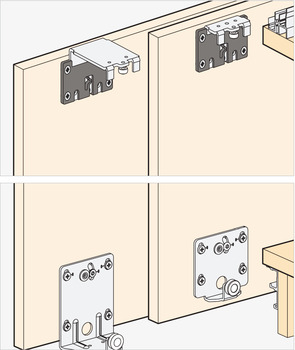 Sliding Door Hardware, EKU Combino 20 & 35 H Forslide, set