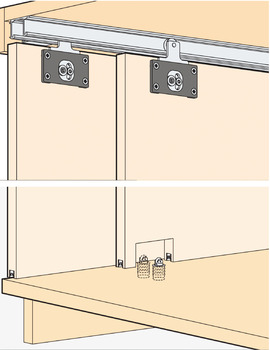 Sliding Door Hardware, EKU Combino 35 H Inslide, set