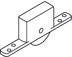 Sliding Door Hardware, For Heavy Doors (880 lbs) With Ball Bearing