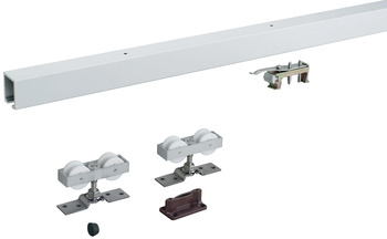Sliding Door Hardware, HAWA Junior 80/Inox, set