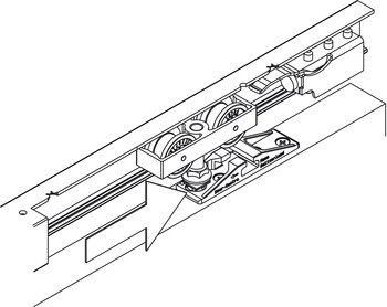 Sliding Door Hardware, Hawa Symmetric 80/Z, set
