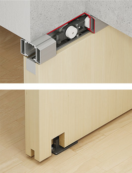 Sliding Door Fitting, Häfele Slido Classic 40-L to 120-L, set without running track