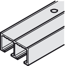 Double Top Track, Top, for screw fixing