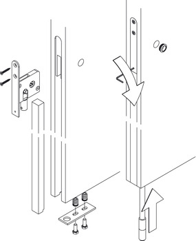 Sliding Door Lock, HAWA