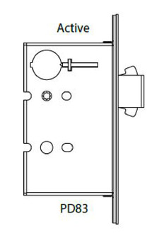 Sliding/Pocket Door Lock, ADA Compliant Mortise Lock with Deadbolt