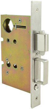 Sliding/Pocket Door Lock, With Deadbolt for Active Door