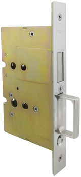 Sliding/Pocket Door Lock, With Edge Pull for Inactive Door