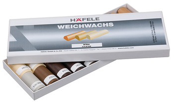 Soft wax assortment, Häfele, for touching up/repairing, surface products