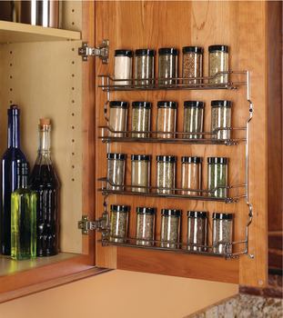 Spice Rack, Four Shelf, Steel