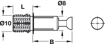 Spreading Bolt, C100, Minifix<sup>®</sup> System, for drill hole ⌀ 10 mm