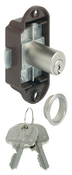 Spring Bolt Rim Lock, with Pin Tumbler Cylinder, Standard Profile, Backset 20 mm (25/32)