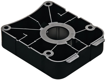 Square Mounting Plate, for Ø78 mm Adjustment Foot/Tube