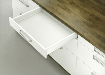 Standard Drawer, Häfele Matrix Box P50, drawer side height 92 mm, load bearing capacity 50 kg