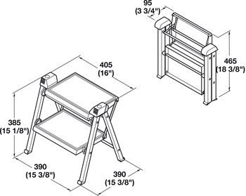 Stepfix Step Stool, Folding