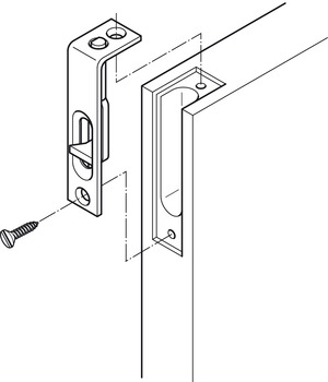 Straight Furniture Bolt, for Flush Mounting in Door Edge