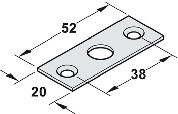 Striking plate, for flush bolt and door operating locking bolt