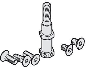 Suspension Bolt, M8, Including Mounting Screws