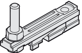Suspension Carriage, with Integrated Mounting Block and M8 Screw