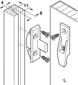 Suspension Fitting, Panel Connector