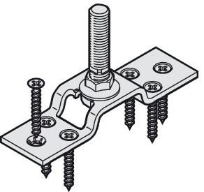 Suspension Plate, One-way, M12 Bolt, with Mounting Screws