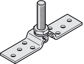 Suspension Plate, One-Way, M14 bolt and Mounting Screws