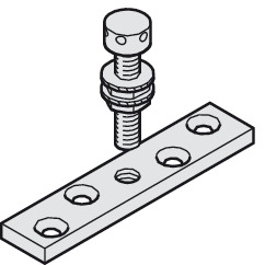 Suspension Plate, with M8 Bolt and Counter Nut
