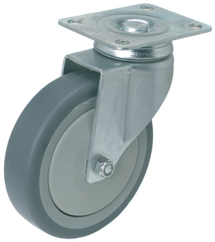 Swiveling Caster, Plate Mount, without Brake