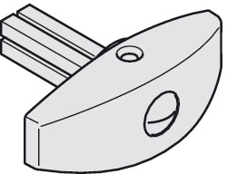 Thumbturn, With square pin