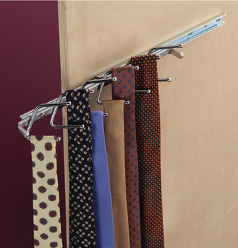 Tie Rack with Slide, 12 Hook, 11
