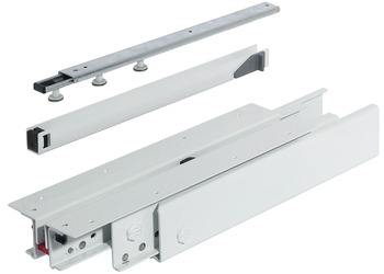 Top/Bottom Mounted Pull-Out Cabinet Slide, Full Extension, 440 lbs Weight Capacity