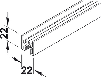 Top Frame Profile, Aluminum