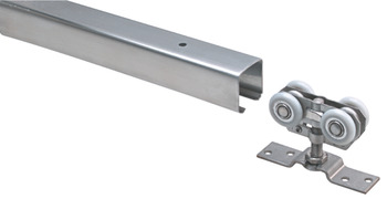 Top Track, Soffit or Side-Mounted, Pre-Drilled with Bracket