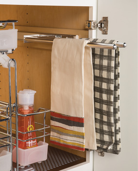 Towel Rack Pull-Out, 2 Bar, Extendable