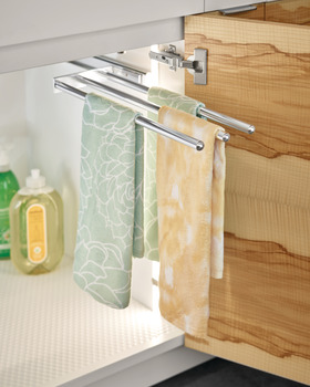 Towel Rack Pull-Out, 3 Bar, Extendable